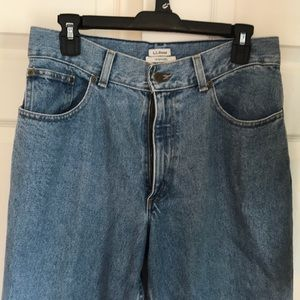 LL Bean high rise jeans
